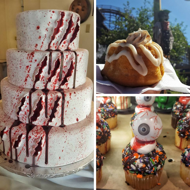 Something for everyone at Knott's Ghost Town Bakery. That cake tho, super fun and creepy!
