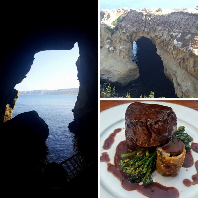 Sunny Cave, La Jolla Cove and Dinner at La Estancia all made for a perfect combo!