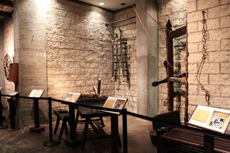 Dungeon museum has many antique and reproduction pieces on display.