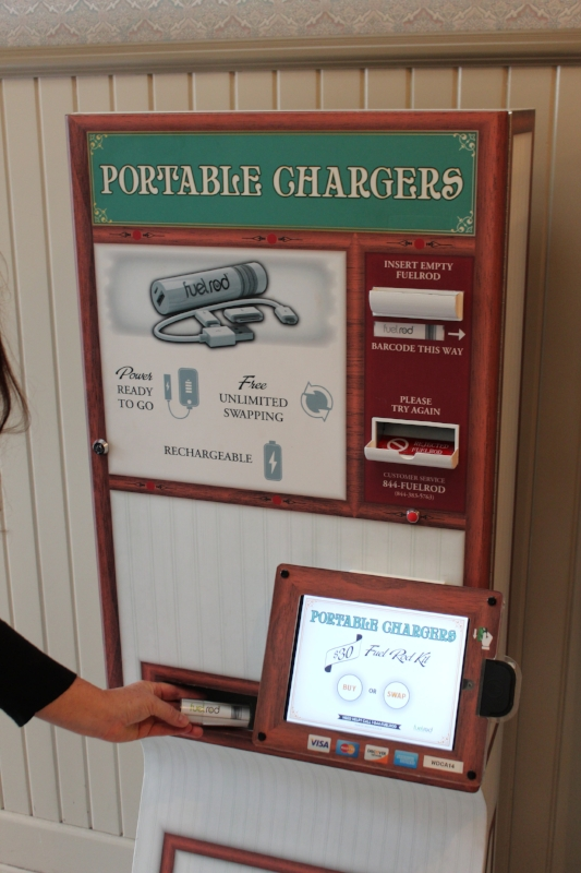 FuelRod Kiosk at the Lockers on Main Street in Disneyland