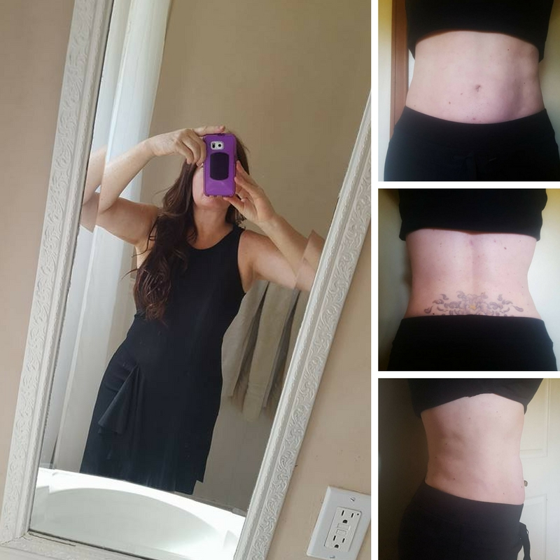 After pictures of back, and stomach, still have a little rippling. nothing some crunches won't fix! That back though, what a difference!