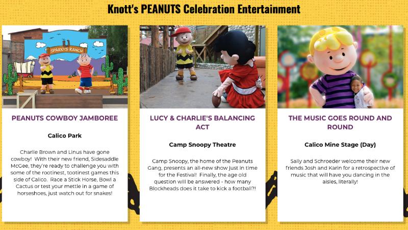 Knotts PEANUTS Celebration