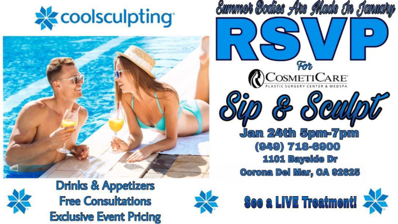 CosmetiCare sip and Sculpt Event