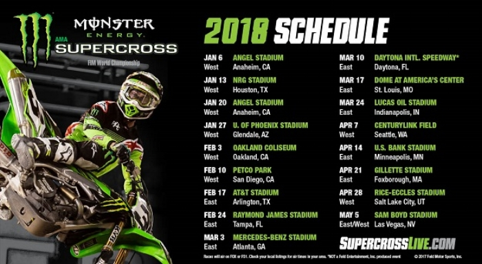 Monster Energy Supercross Schedule