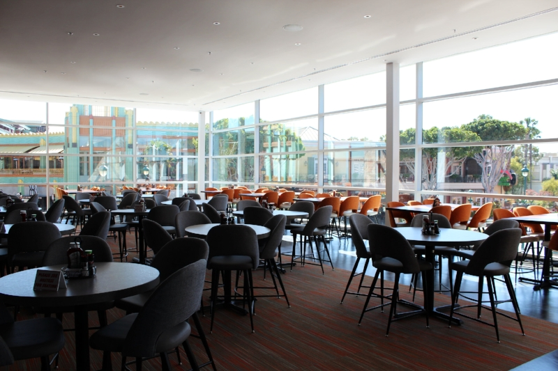 Upstairs dining/bar area with amazing views of Downtown Disney District