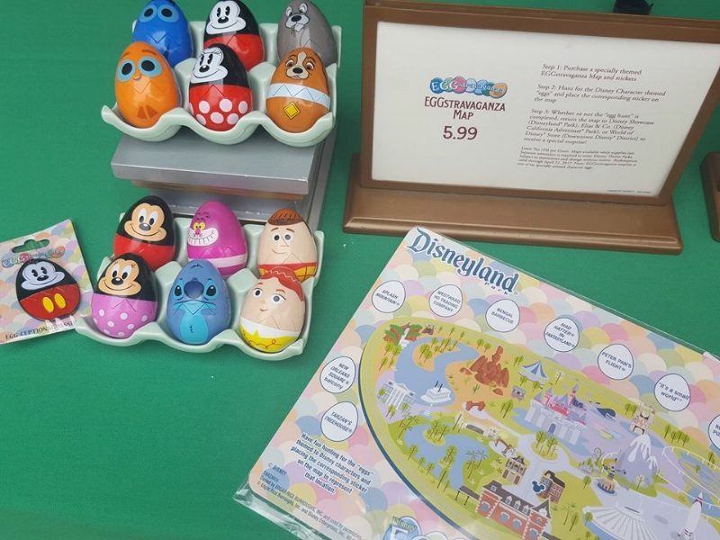Map from 2017 and the eggs you could choose from at Disneyland.