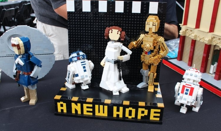 Fan made models on display during LEGO Star Wars Days at Legoland