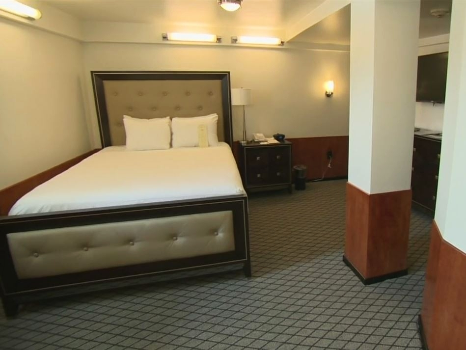 Stateroom B340 awaits you. Hard to believe this was 3 rooms originally. Photo via CBS News