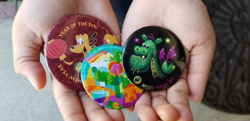 Ap Buttons are Exclusive to pass holders and given out for many occasions.