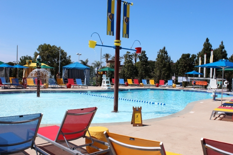 Pool area with Gazebos and whirlpool. Pool hours are 8am to 10pm