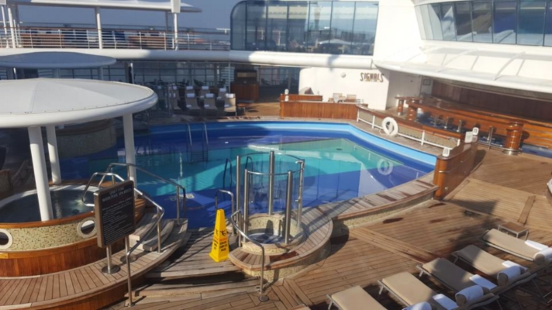 Adult pool, just one of 3 on the ship