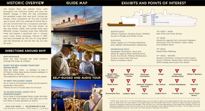 Queen Mary Points of interest