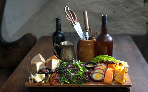 Three Broomsticks expands its lunchtime menu with a selection of traditional British fare:  Ploughman's Lunch Photo credit: Food Beast