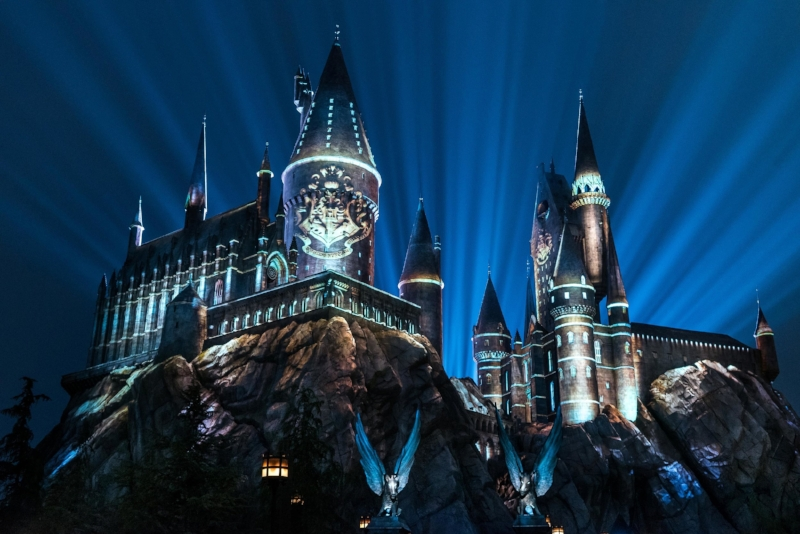 The Nighttime Lights at Hogwarts Castle_WWoHP at USH 2018.jpg