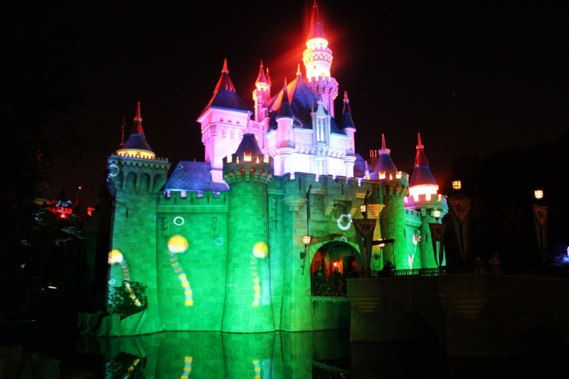 Sleeping Beauty's Castle gets a Halloween makeover during the party and is the backdrop during the Fireworks.