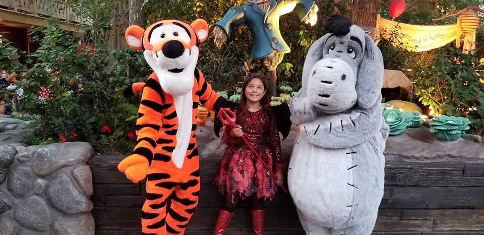 Meet and greet with some not so scary friends in Critter Country  Costume: Devil Dress Courtesy of  Chasing Fireflies