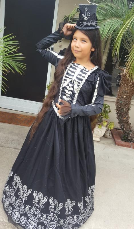 Skeleton Princess Costume for Girls Item 842292
