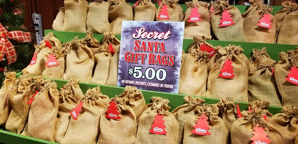 $5 will get you a secret Santa Gift bag filled with 6 different items for kids!