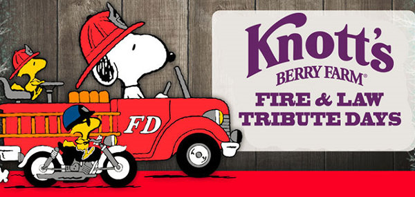 Free Fire and Law Tribute Days at Knott's Berry Farm