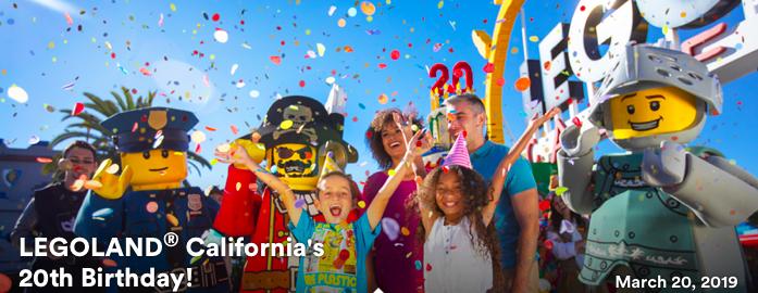 Legoland California 20th Birthday