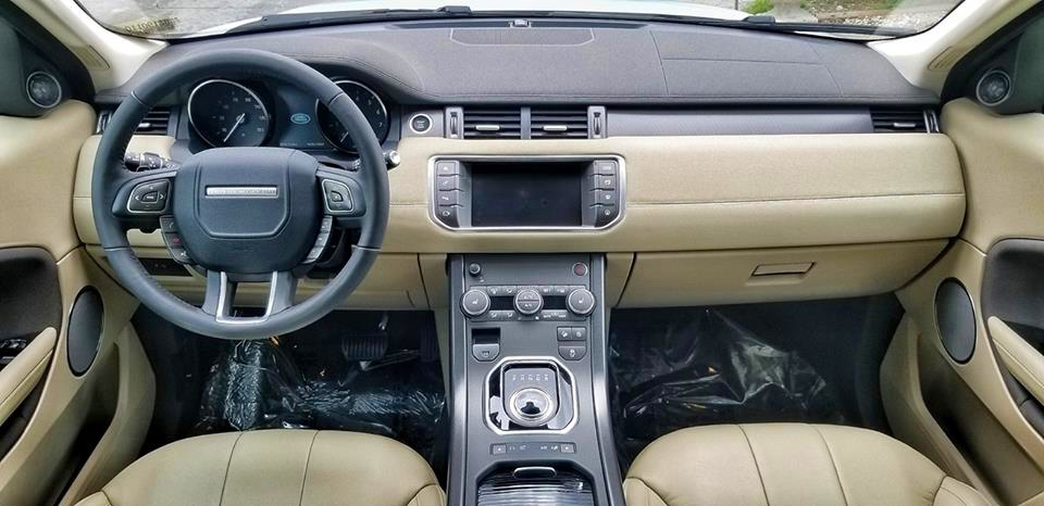 Cabin of the 2019 Evoque Compact yet well appointed and lots of leg room.