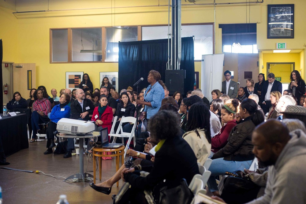 More than 100 people assembled at Lincoln Child Center in West Oakland to discuss children's mental health issues. Photo by Nicole Barton