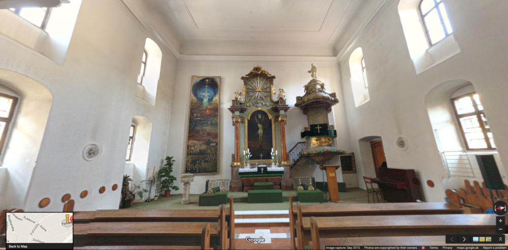 Check out a 360º view of inside the Small Church.