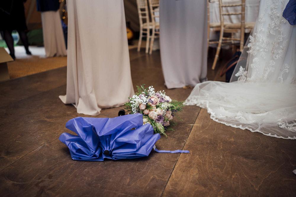 Brook Farm Wedding Photographer Wedding Umbrella for a rainy wedding