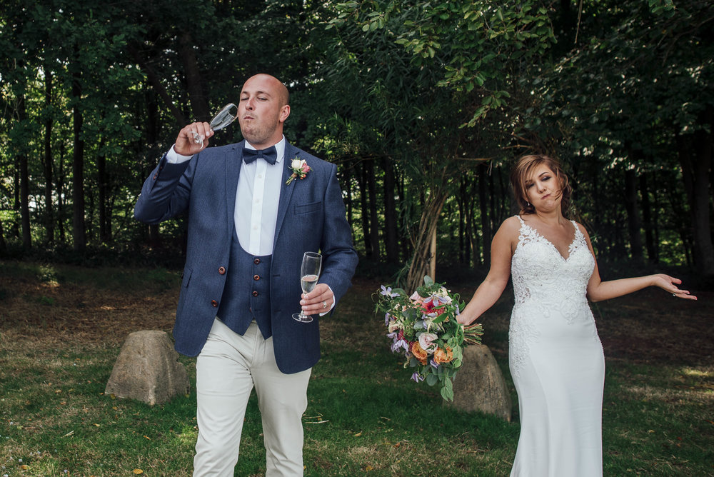Quirky couples wedding photos