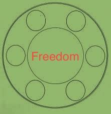 freedom seder plate