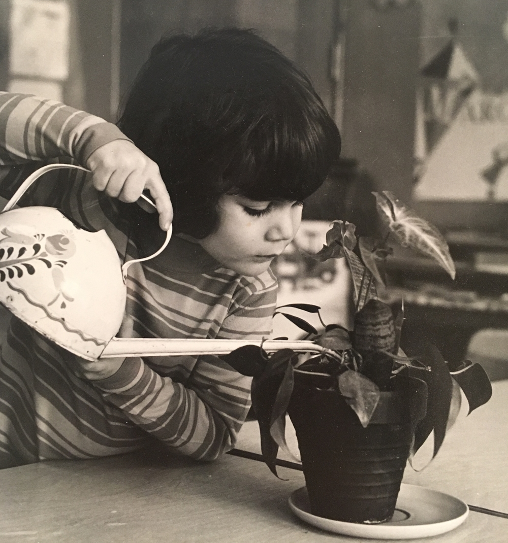 Julie Preparing For Mother's Day Circa 1970