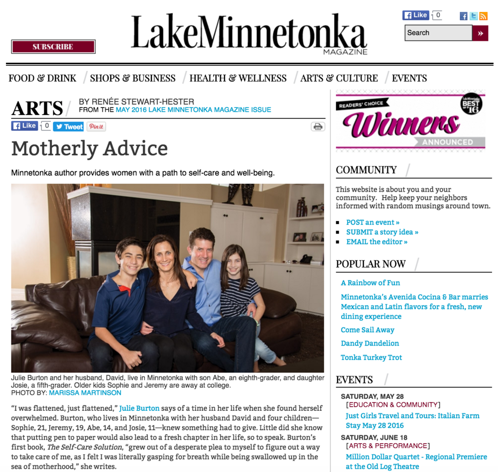 Lake-Minnetonka-Magazine-Julie-Burton-Self-Care-Solution