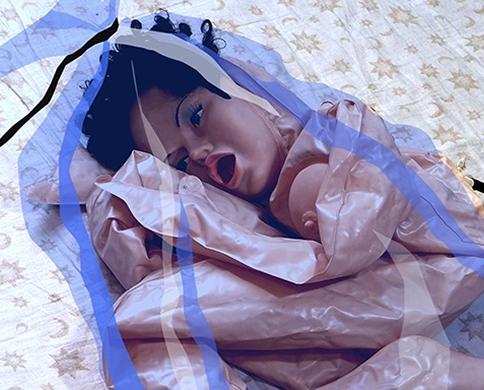 Renate Bertlmann, Eva im sack 2010 Richard Saltoun, London cultured Frieze London Sex Work alison gingeras rachel small.jpg