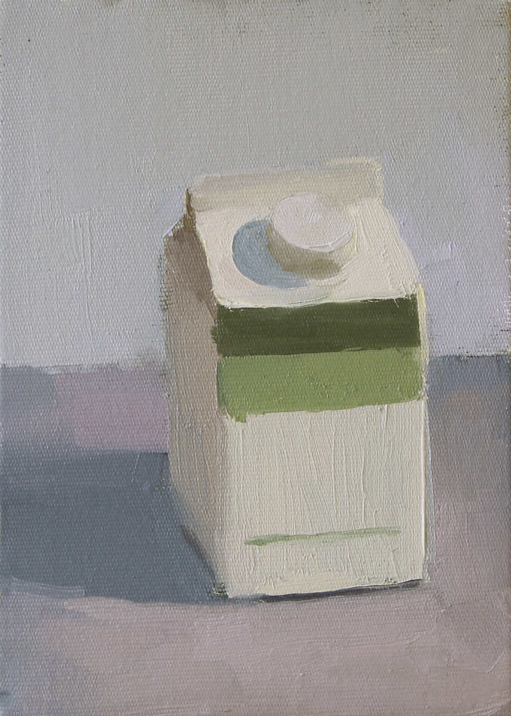 "half & half   oil on canvas  5x7""  2012"