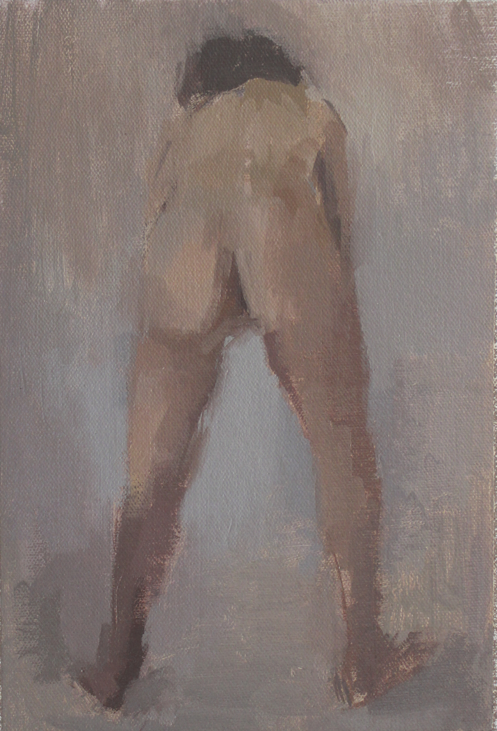 "back   oil on canvas  6x9""  2012"
