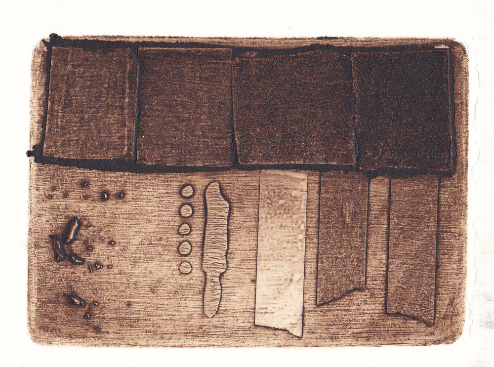 a test   collagraph print  2012