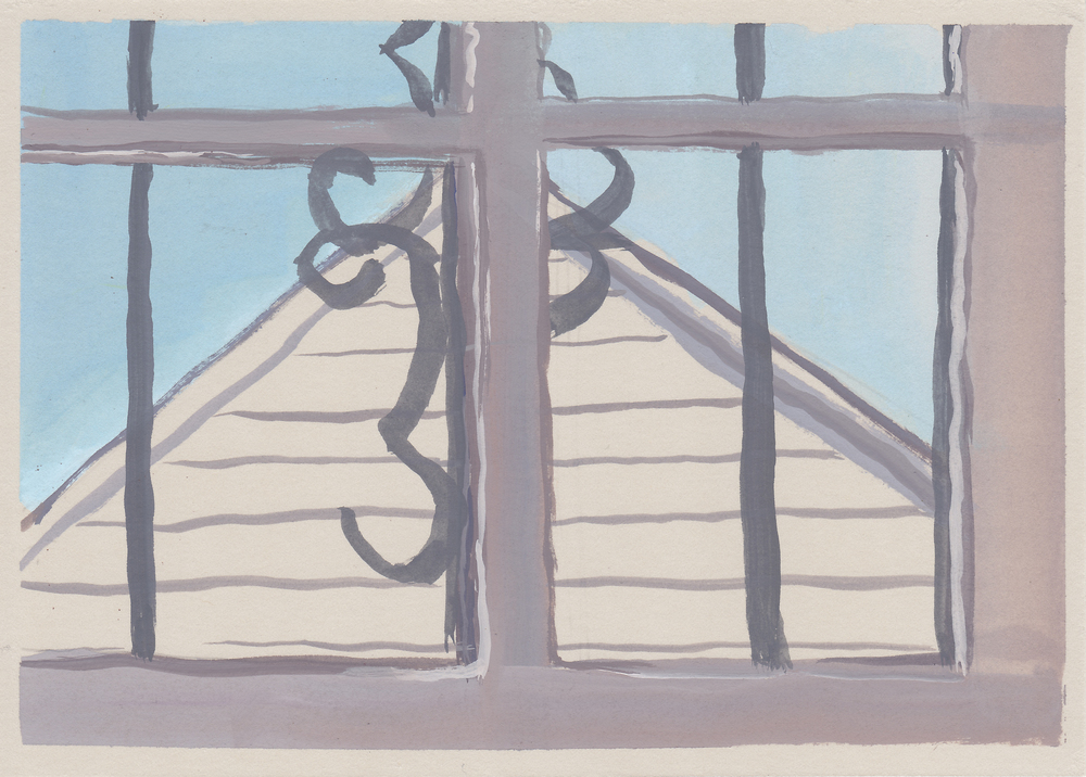 "window view   gouache and watercolor  4.5x6.5""  2015"