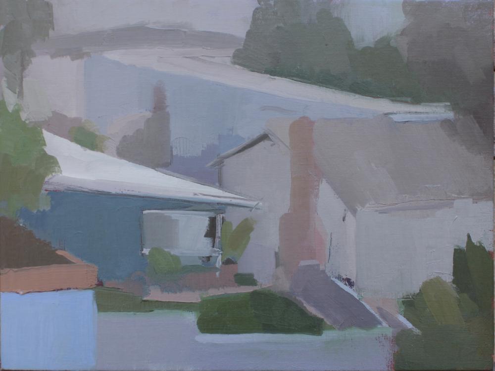 """fairview   oil on canvas  9x12""""  2013"""