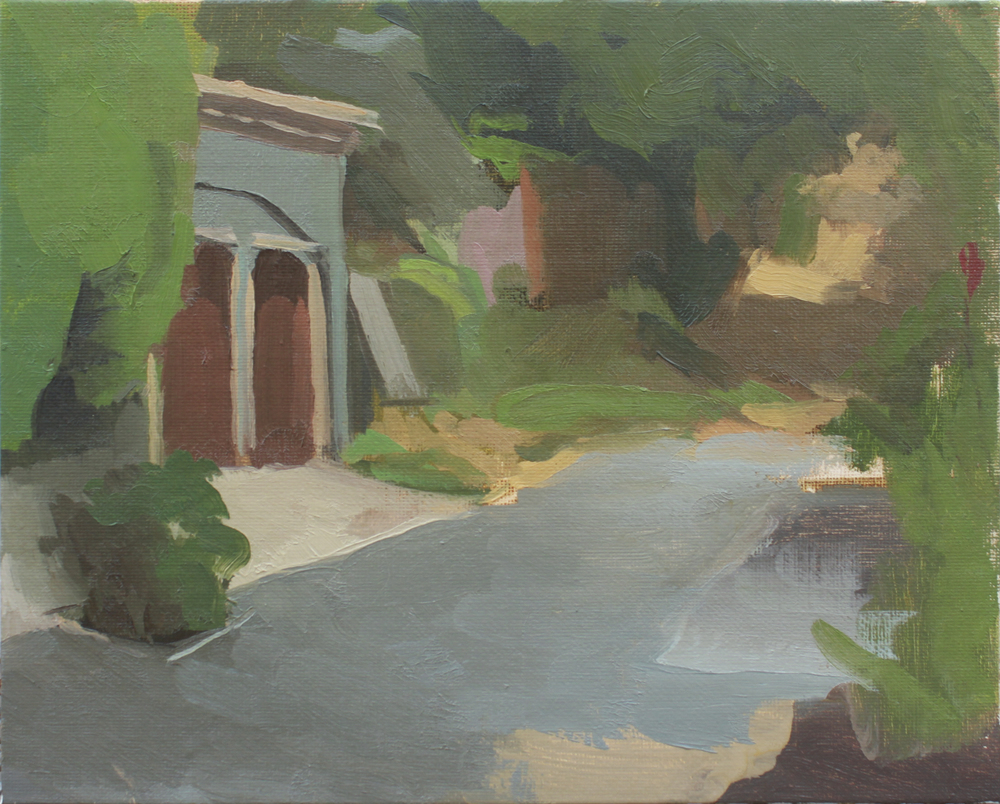 """back alley   oil on canvas  8x10""""  2013"""