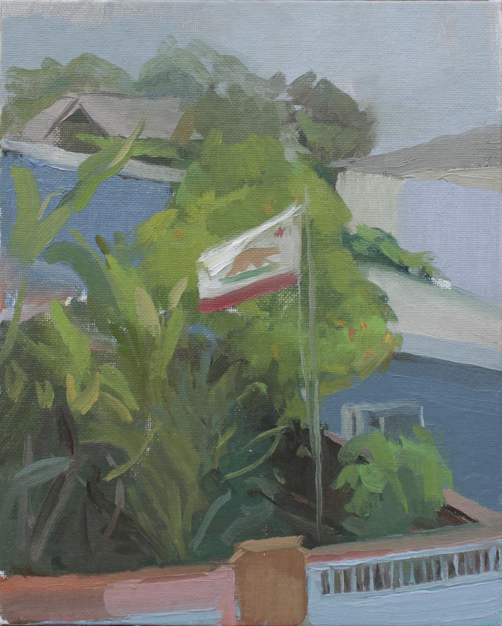 """flag   oil on canvas  8x10""""  2013"""