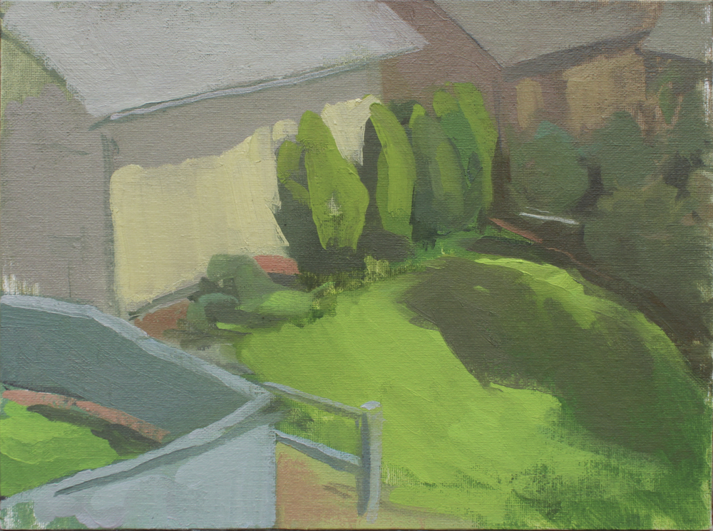 "fairview II   oil on canvas  8x10""  2013"