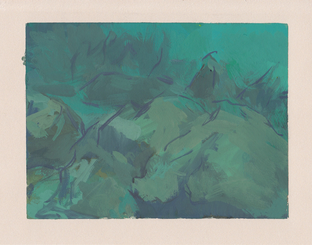 "seascape   gouache on paper  4x5.25""  2013"