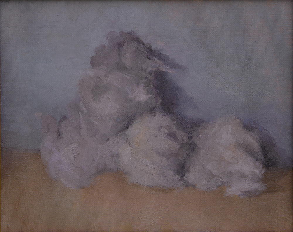 "lumps   oil on canvas  8x10""  2014"