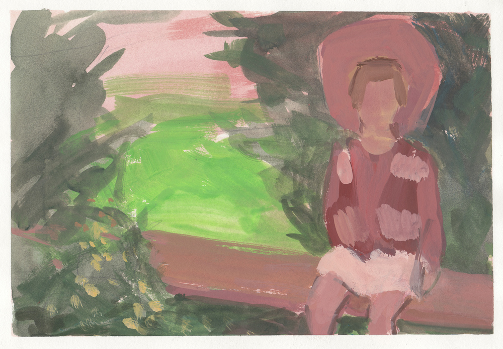 """study for """"horse festival""""  watercolor and gouache on paper 6x9"""" 2014  available"""