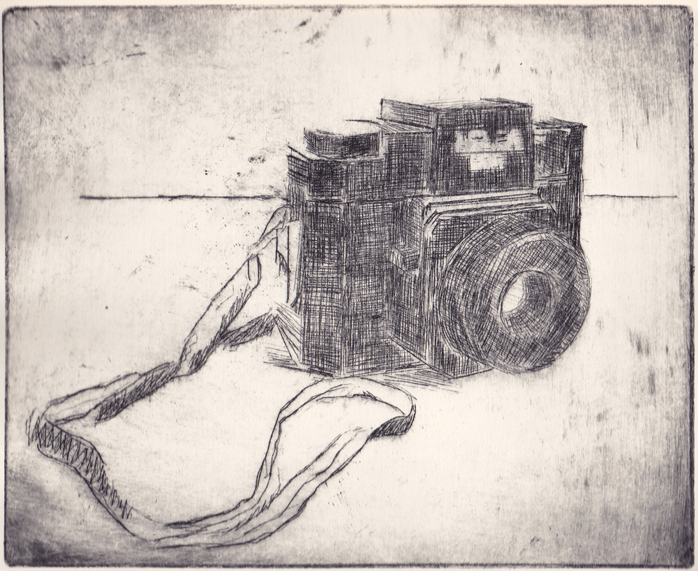 the holga   drypoint  2011