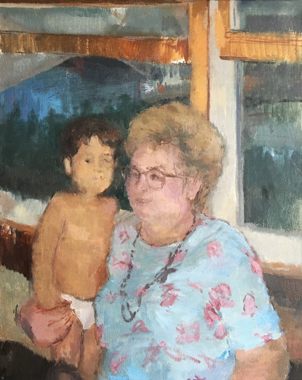 "Aunt Barbara  oil on canvas 24x30"" 2015  private collection Nashville, TN"