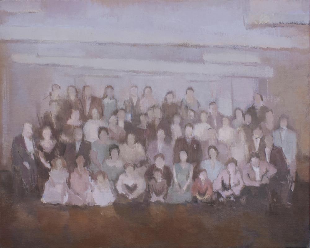 "Golden Anniversary (Paparazzo Family Portrait)  oil on canvas 24x30"" 2016   purchase"
