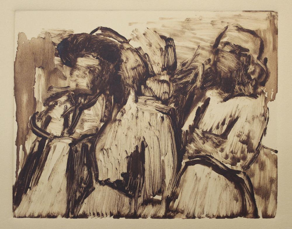 """frontier ladies   ink on paper  9.75x7.5""""  2016"""