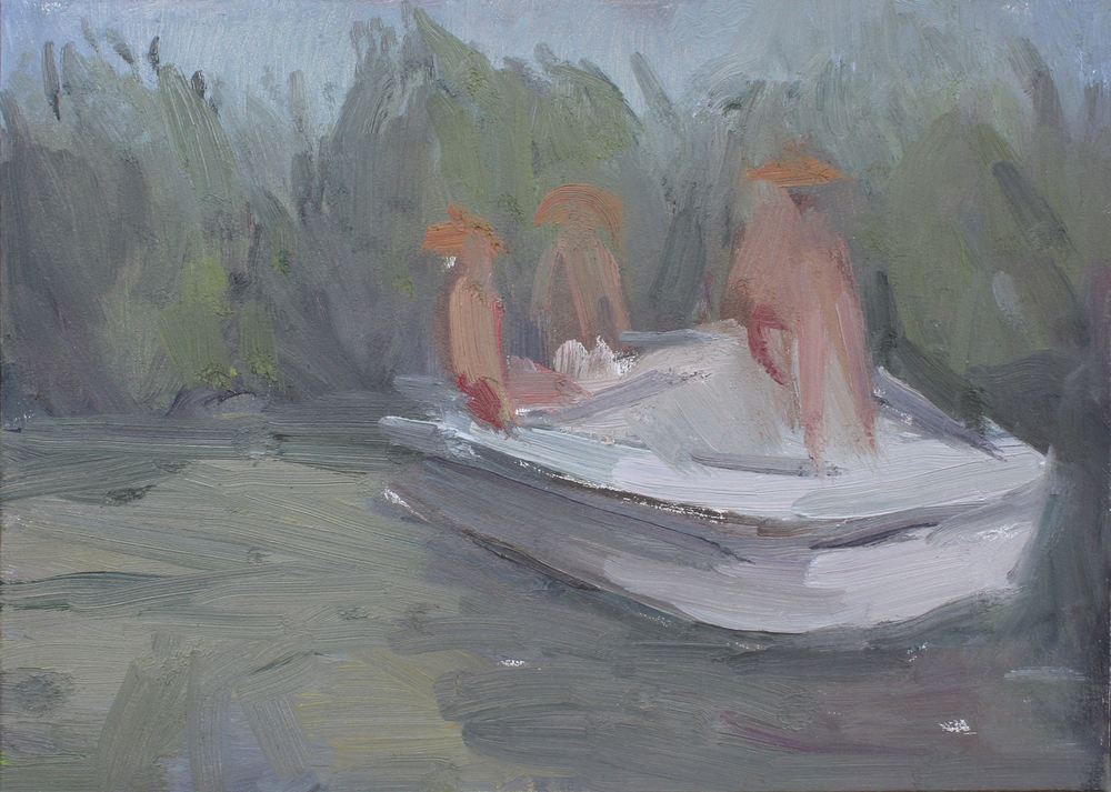 """mangrove forest  oil on panel 7x5"""" 2016  private collection Nashville, TN"""