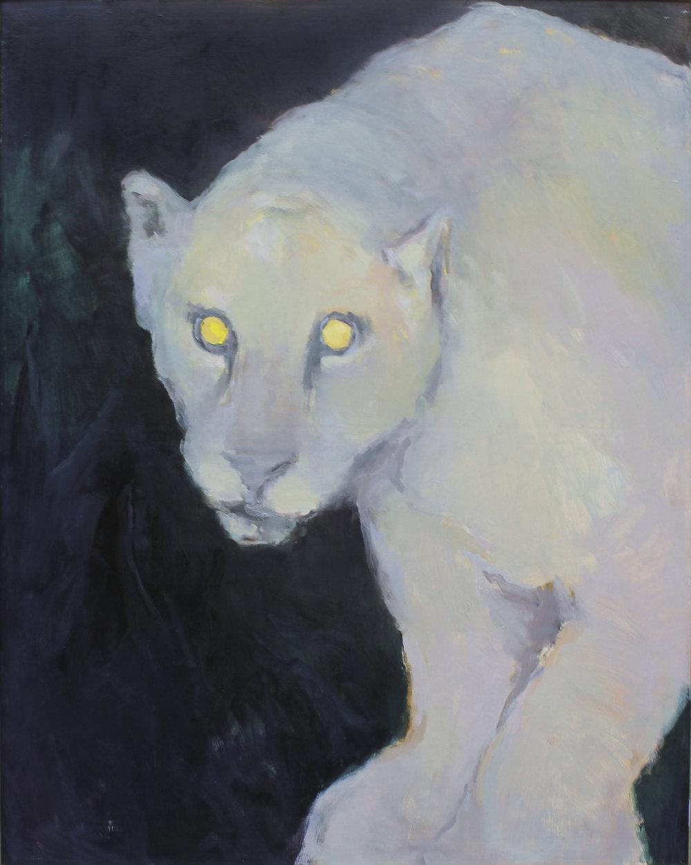 """were-jaguar  oil on canvas 24 x 30"""" 2017  private collection NJ"""